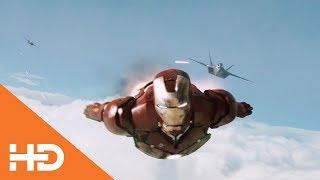 Железный Человек Против Двух Истребителей ★ Железный Человек (2008)