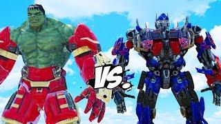 IRON HULK vs OPTIMUS PRIME (Transformers)