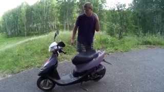 Обзор на скутер Honda dio af-35 sr(Снимали на скорую руку, так как была куча комаров. Ставь лайк, подписывайся, комментируй :) Группа Вконтакте-..., 2015-07-22T02:26:28.000Z)
