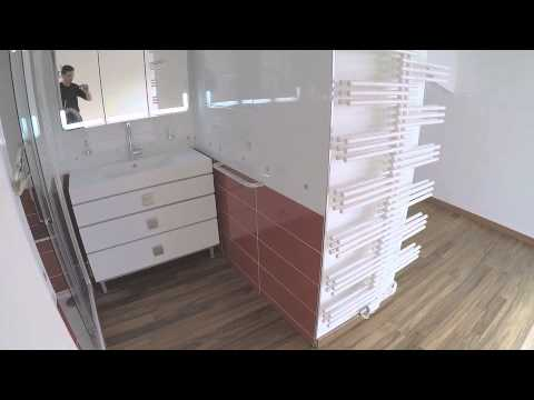 suite parentale avec salle de bain r alis e par la soci t atom youtube. Black Bedroom Furniture Sets. Home Design Ideas