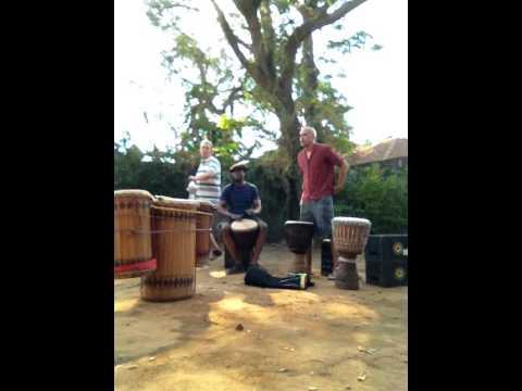 Djembe practice in Dar es Salaam