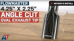 """1997-2018 F150 Flowmaster 4.25"""" x 2.25"""" Angle Cut Oval Exhaust Tip Review & Install"""