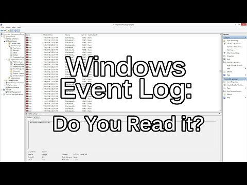 The One About The Windows Event Log