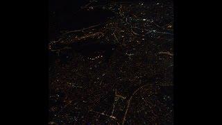 Uçak iniş Kayseri Erkilet havalimanı (Gece)