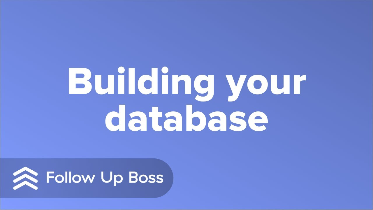 Video 2: Building Your Database