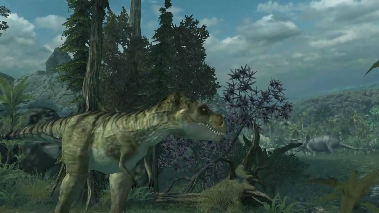 Walking With Dinosaurs 3d Wallpaper Tyrannosaurus Rex 3d Screensaver Youtube