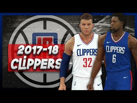 NBA 2K17 2017-18 Los Angeles Clippers Nike Jersey Tutorial