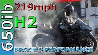 219 MPH! Brock's Performance Kawasaki H2 FASTER than H2R!!!