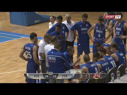 U20 basketball ICELAND vs ISRAEL