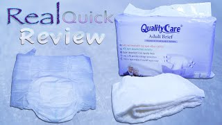 Real Quick Review  QualityCare Premium Brief  #adultdiaper