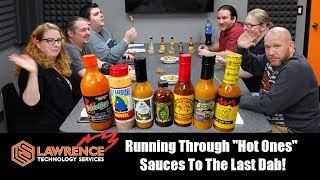 "Running Through ""Hot Ones""  Sauces To The Last Dab! (Warning, The Scovilles Caused Some Swearing!)"