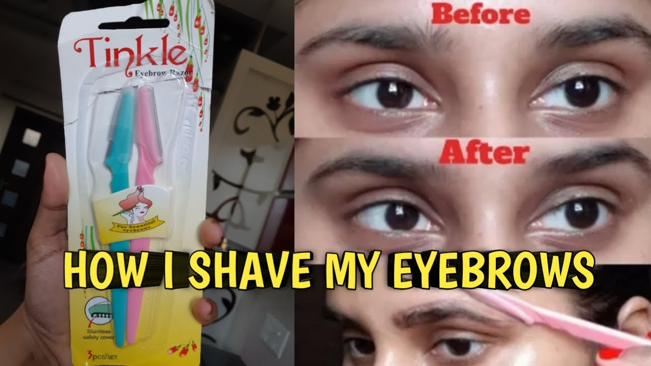 How to Shave your eyebrows at home | Use EYEBROW RAZOR to ...