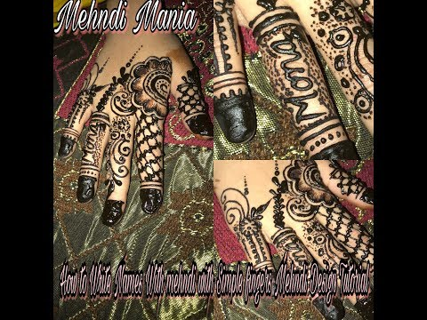 How to write names with mehndi With Simple Fingers Design Tutorial thumbnail