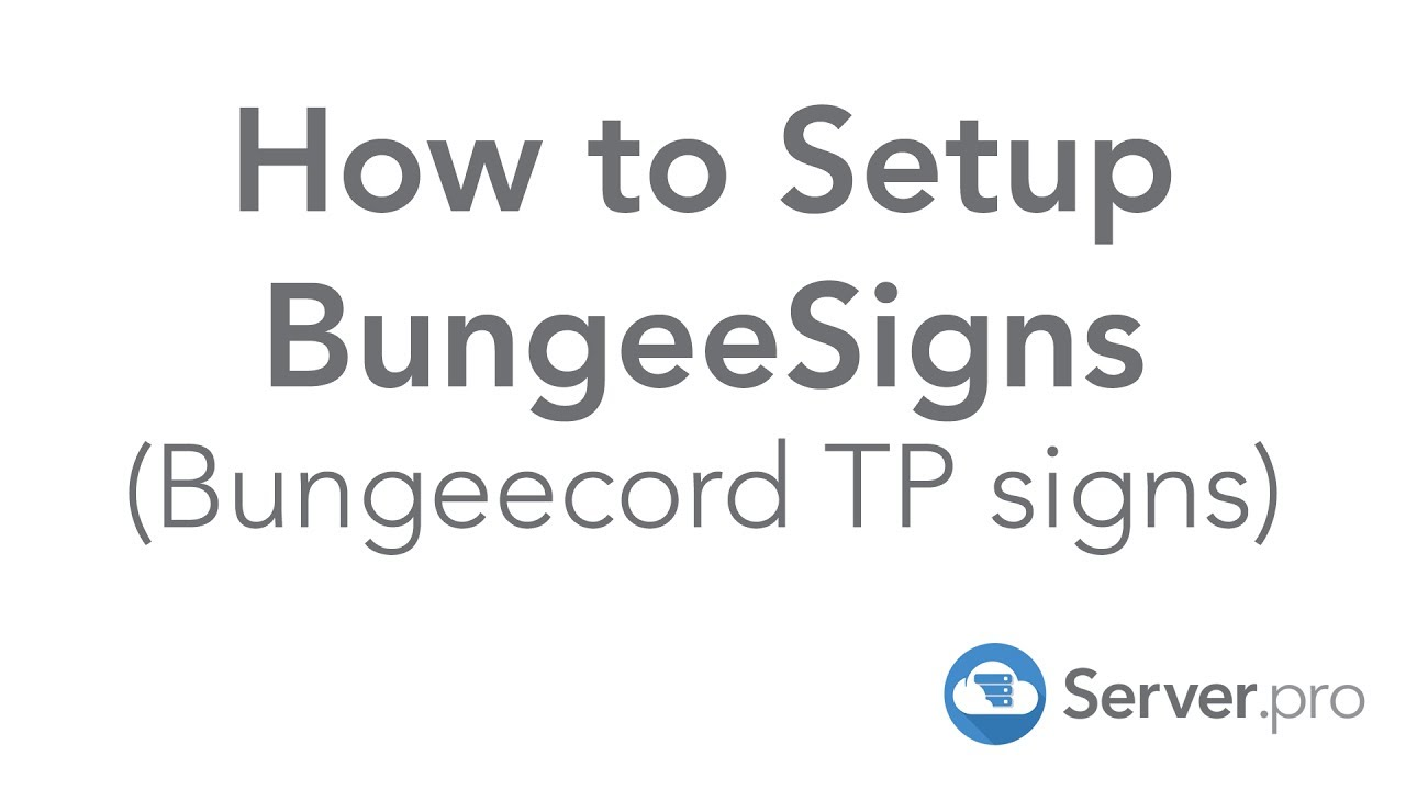 How to Setup Bungeecord TP Signs with BungeeSigns - Minecraft Java