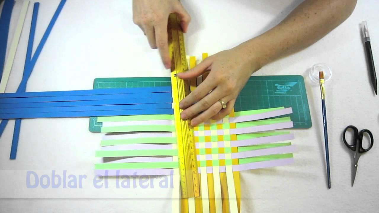 Manualidades paso a paso hacer cesta de papel youtube - Manualidades en papel ...