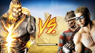 Mortal Kombat Komplete Edition - Dark Kahn & Blaze Costume Mod Tag Ladder 4K Gameplay Playthrough