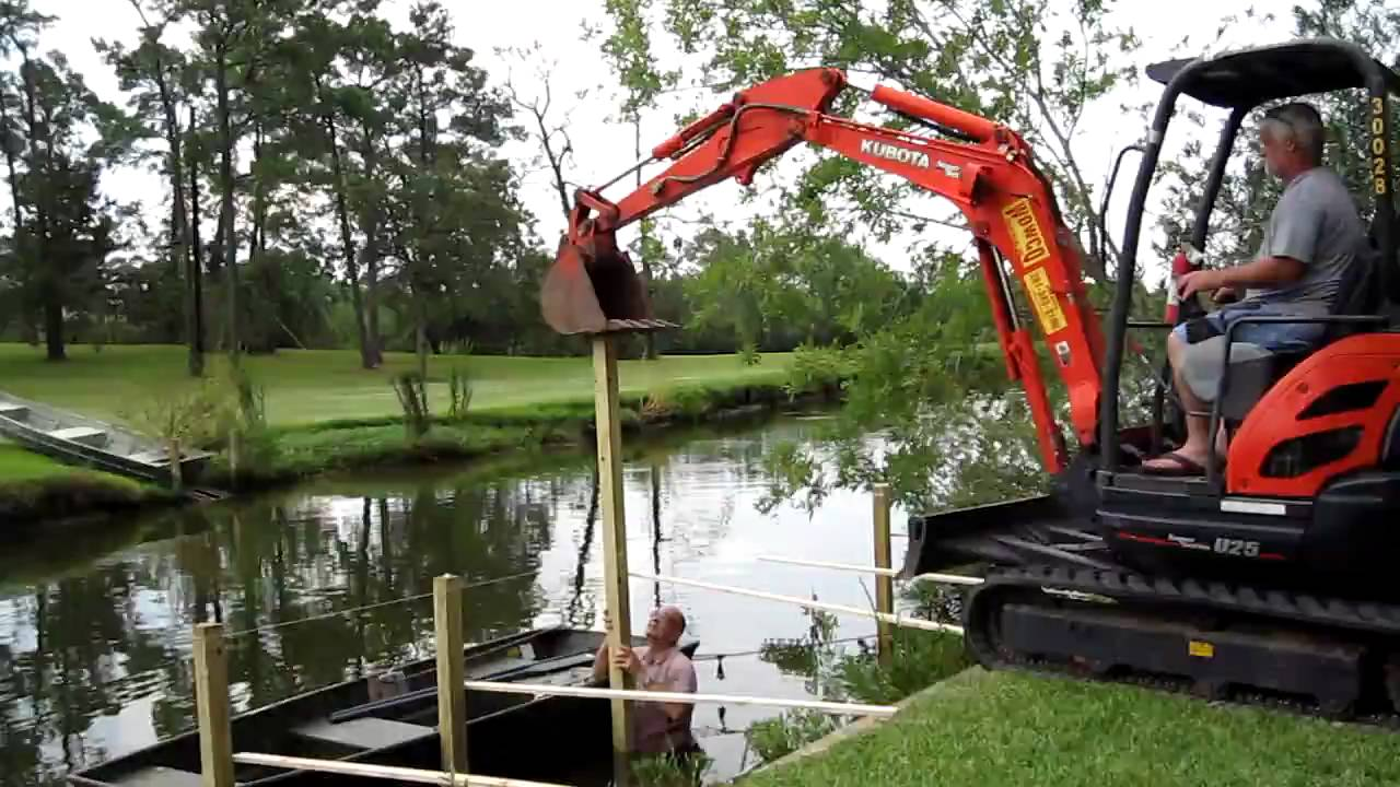 How to build a pier by tommy reece baytown tx youtube for Building a house on piers