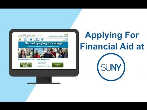 APPLYING FOR FINANCIAL AID AT SUNY 2017-18