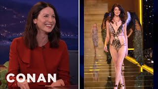 Caitriona Balfe Was The Whitest Victoria's Secret Model  - CONAN on TBS