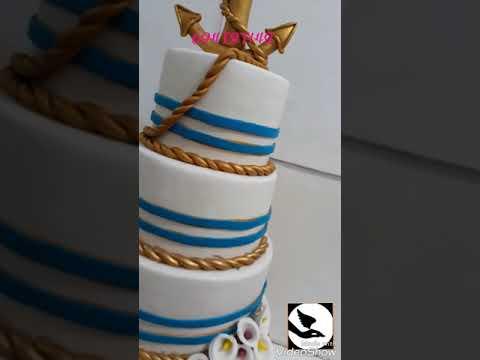 Gâteaux de mariage sur le thème marine