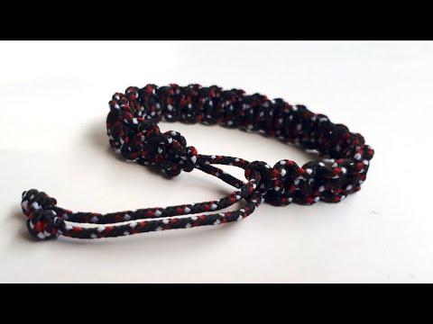 Cara membuat gelang dari tali Prusik | How to make max style Bracelet Paracord | HarazakiTrick