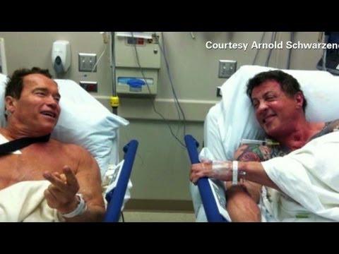 Stallone Schwarzenegger In Hospital Youtube