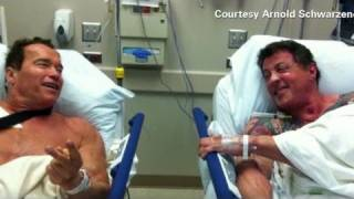 Stallone, Schwarzenegger in hospital