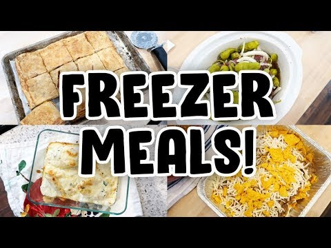 I MADE FOUR PIONEER WOMAN FREEZER MEALS! 🤩 RANCH PIZZA PIE 🍕 BEEF SANDWICHES 🥖 STUFFED SHELLS 🍤