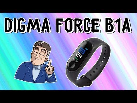 Обзор фитнес трекера Digma Force B1A