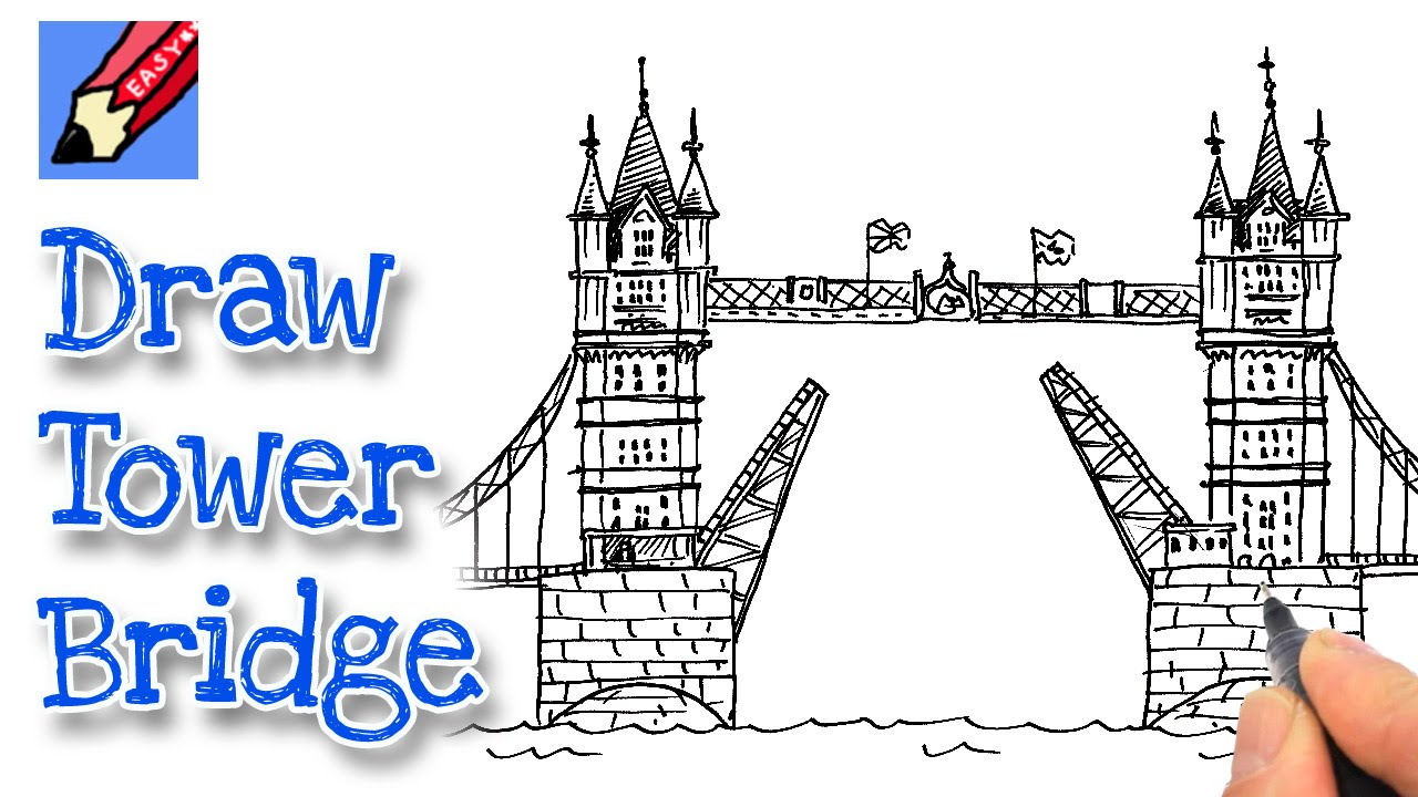 how to draw londons tower bridge youtube