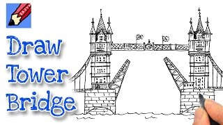 How to draw London's Tower Bridge(Learn how to draw London's Tower Bridge Real Easy with Shoo Rayner, the author of Everyone Can Draw - the book that teaches you how to draw Real Easy!, 2015-05-21T15:00:01.000Z)