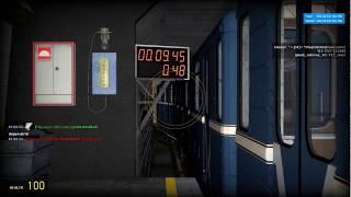 Garry's Mod - Metrostroi: После обучения новичка: Сменный машинист, загоняет состав в оборотник.