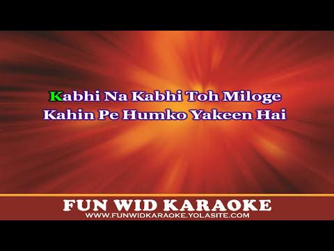 Kabhi Na Kabhi To Miloge Karaoke | Aditya Narayan | Shaapit | T ...
