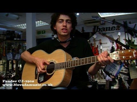 Fender CJ-290S Jumbo Acoustic Demo at Nevada Music UK