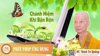 Chánh Niệm Khi Bận Rộn - Thầy Thích Trí Quảng mới nhất 2017