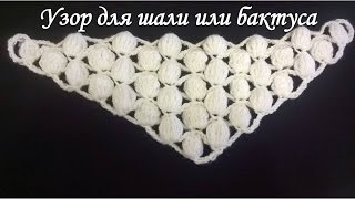 Узор для шали или бактуса крючком/Pattern for a shawl or Bacchus crochet