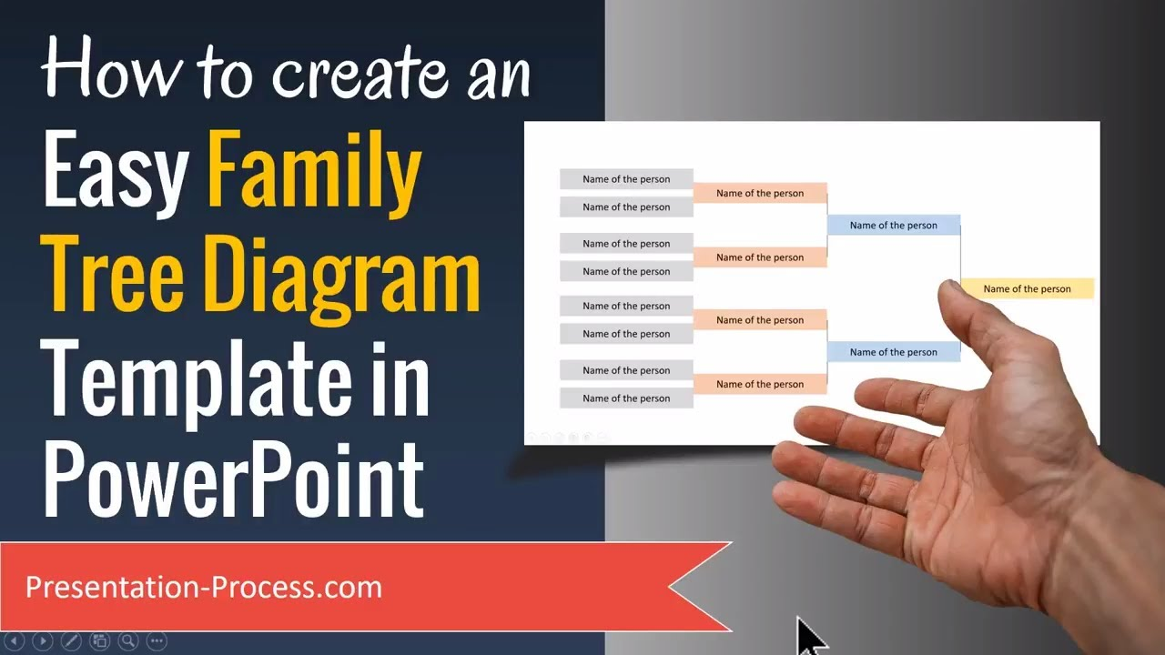 how to create family tree diagram template in powerpoint youtube
