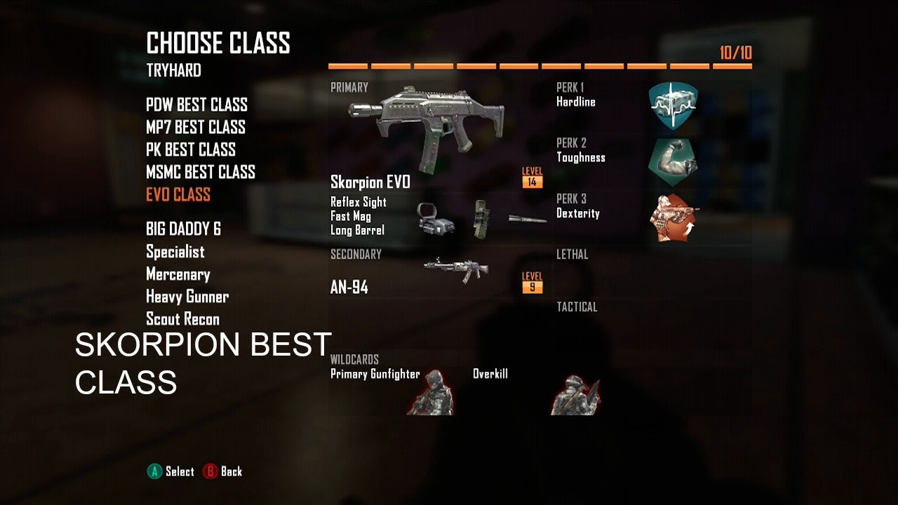 BO2: Call of Duty Black Ops 2 BEST CLASS SETUP SCORPION ...