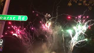 FIRE WORKS AT UTSAV ON LIGHTING UP CEREMONY FOR DEEPAVALI 2017