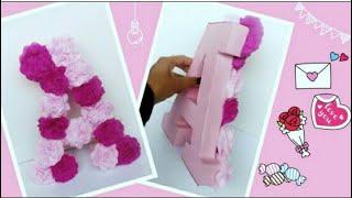 🌸Letra 3D decorada con rosas| Flores| Diy Pinterest |Letter made of roses.