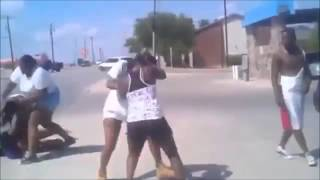 Brutal Fight... Guys And Girls Jump In