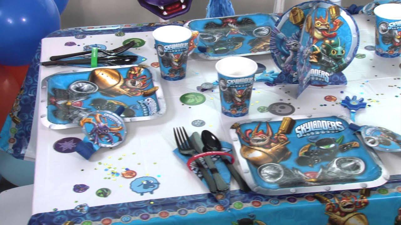 Skylanders Party Supplies - Skylanders Birthday - Party City. Jessica Gossett-Hale. Skylanders Birthday Party. from deutschviral.ml 7th Birthday Party Ideas, Birthday Themes For Boys, Birthday Party Centerpieces, Birthday Decorations, Boy Birthday, Skylanders Party, Party Planning, Poppy, Fiestas.