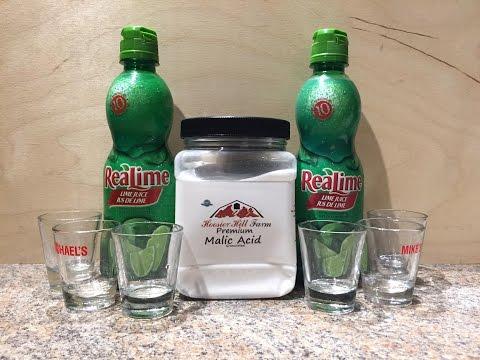 Lime Juice Malic Acid Challenge