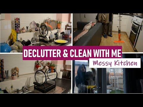 Declutter & Clean My Messy Kitchen With Me | Kitchen Cleaning Routine | Shamsa