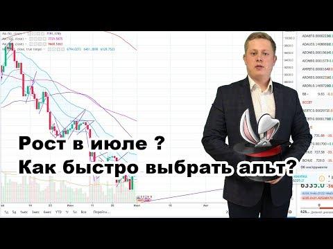 Обзор БИТКОИН! В июле будет рост? Как быстро выбрать альткоин если будет рост