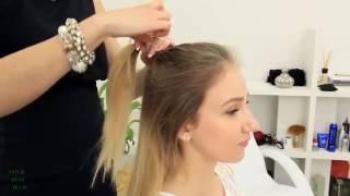 5 модных причесок на средние волосы: ПУЧОК мальвинка + стильные ХВОСТЫ | YourBestBlog   YouTube