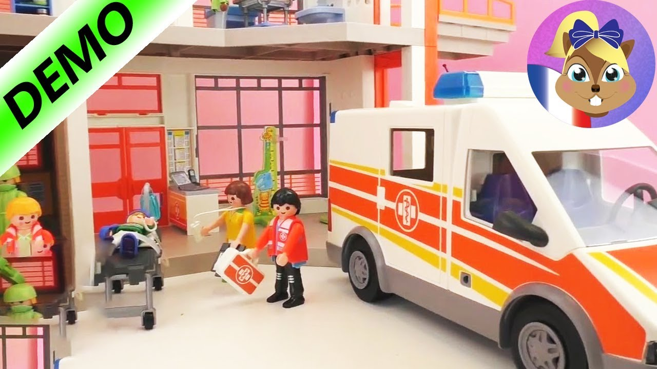 L 39 ambulance playmobil le patient est amen par l 39 ambulance la clinique pour enfants youtube - Dessin ambulance ...