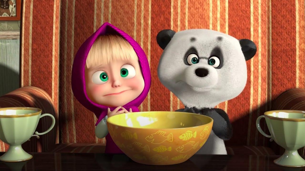 Маша и Медведь - С чего все начиналось? ? За праздничным столом с Машей ?