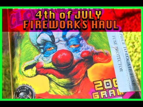 4th of july fireworks haul 2015 by Reagans Toy Review