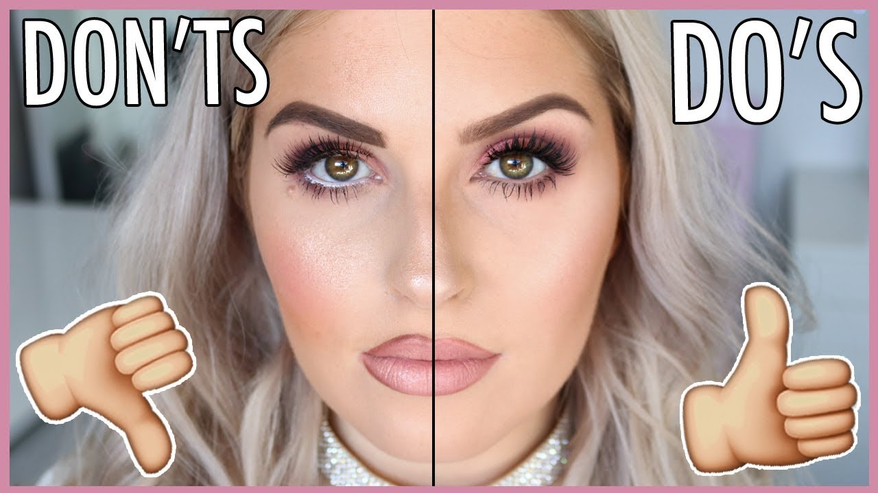 MAKEUP MISTAKES WE ALL DO!! 😱👎 DO'S AND DON'TS